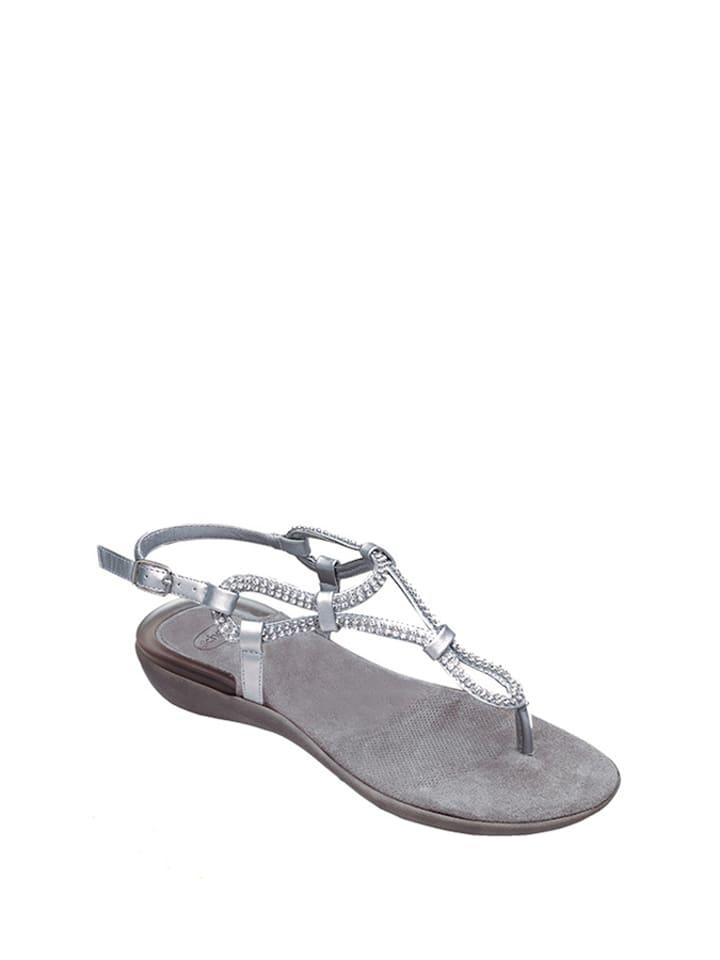 Scholl Sandały w kolorze srebrnym