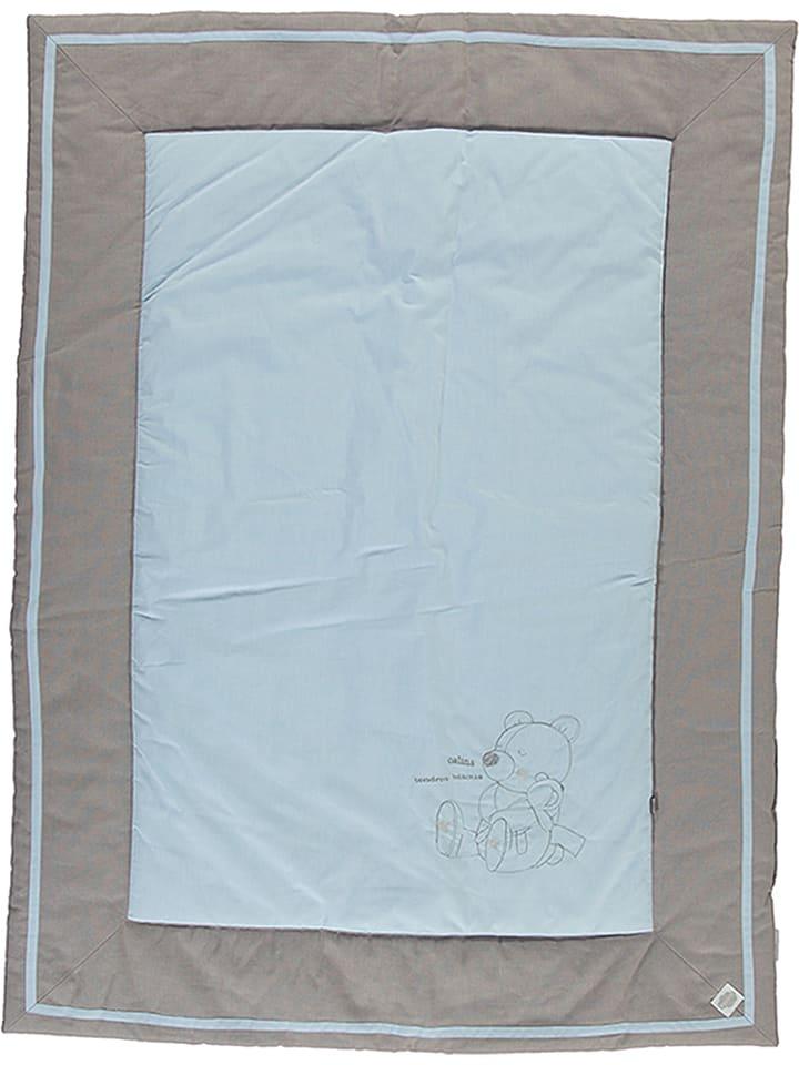 Absorba Narzuta w kolorze szarobrązowo-niebieskim - 120 x 90 cm