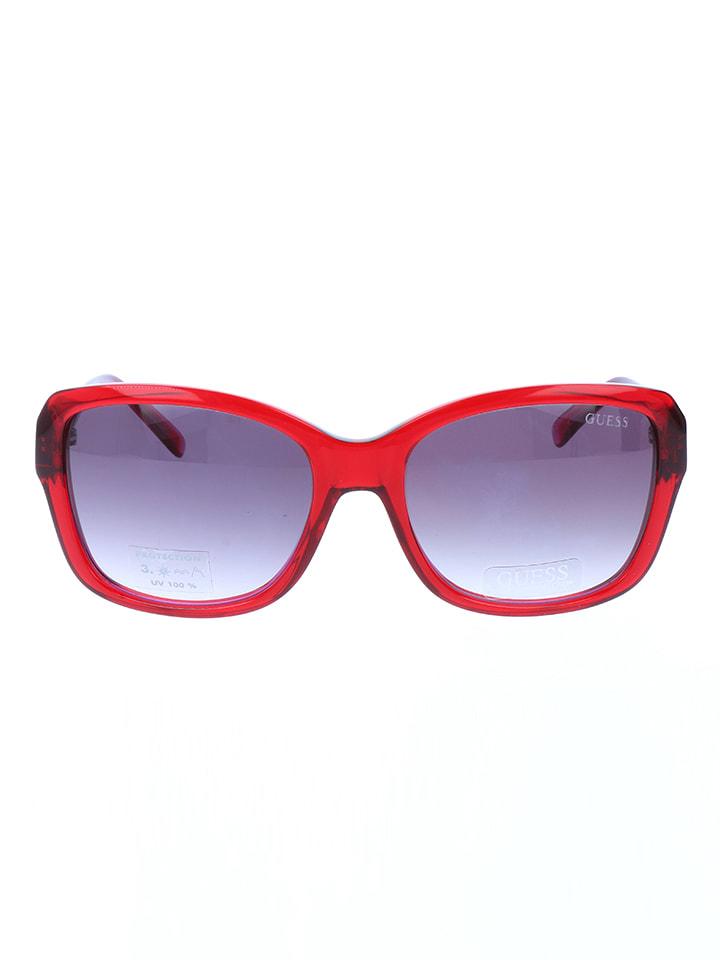 Guess Damskie okulary przeciwsłoneczne w kolorze czerwono-fioletowym