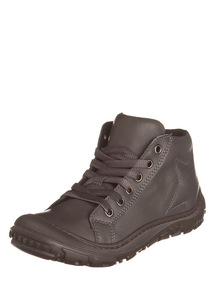EXK Skórzane sneakersy w kolorze szarym