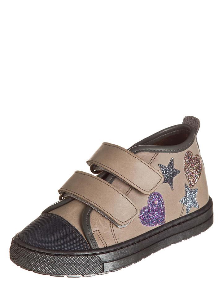 Billowy Skórzane sneakersy w kolorze beżowym