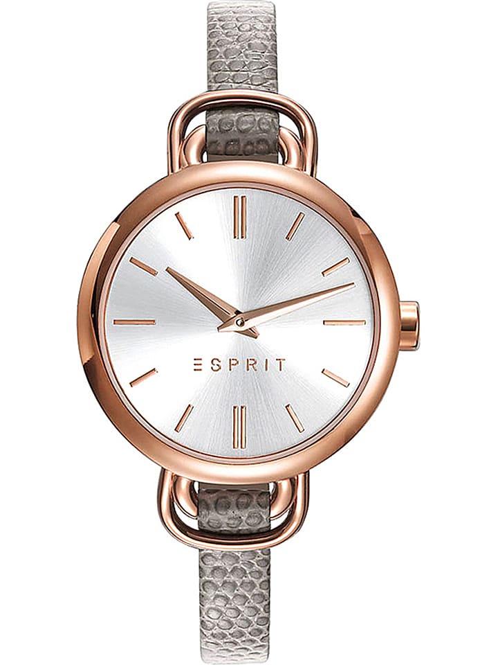 ESPRIT Zegarek kwarcowy w kolorze szaro-srebrno-różowozłotym