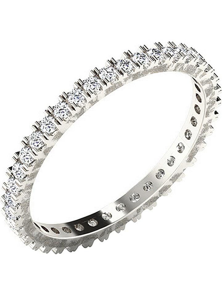 Jewellery of India Weißgold-Ring mit DIamanten - 82% | Größe 57 | Schmuck