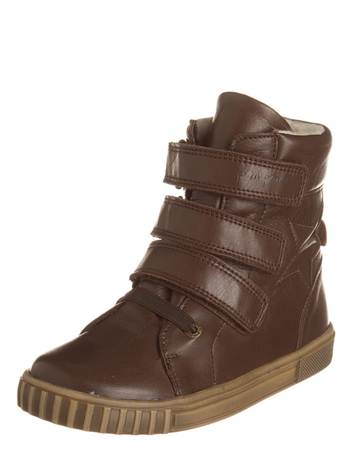 POM POM Skórzane sneakersy w kolorze brązowym
