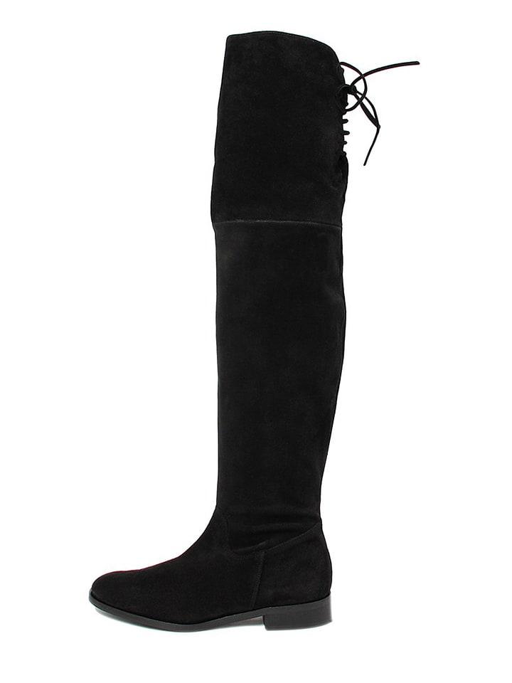 Paul Green Biker Boots schwarz Damen Schuhe Glattleder Reißverschluss YVKNJSWVD
