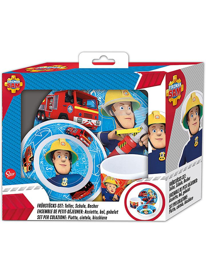 """P:os 3tlg. Frühstücksset """"Feuerwehrmann Sam"""" in Bunt"""
