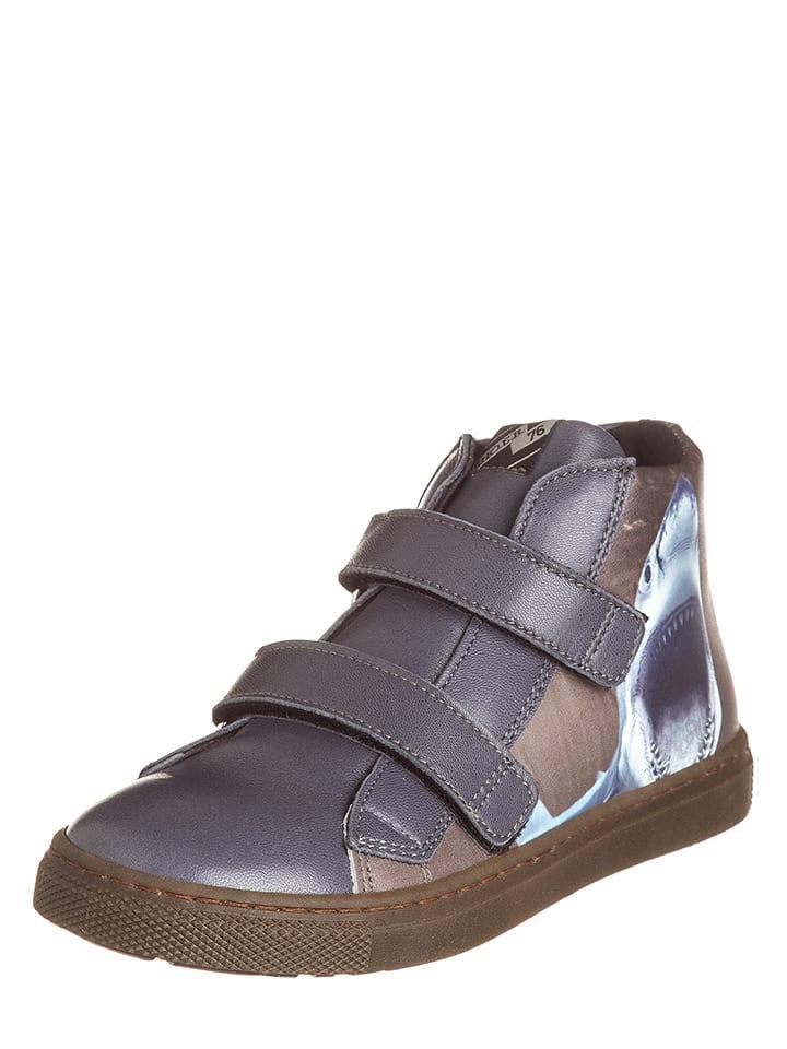 EB Shoes Skórzane sneakersy w kolorze szarym