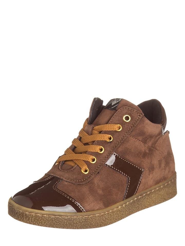 EB Shoes Skórzane sneakersy w kolorze brązowym
