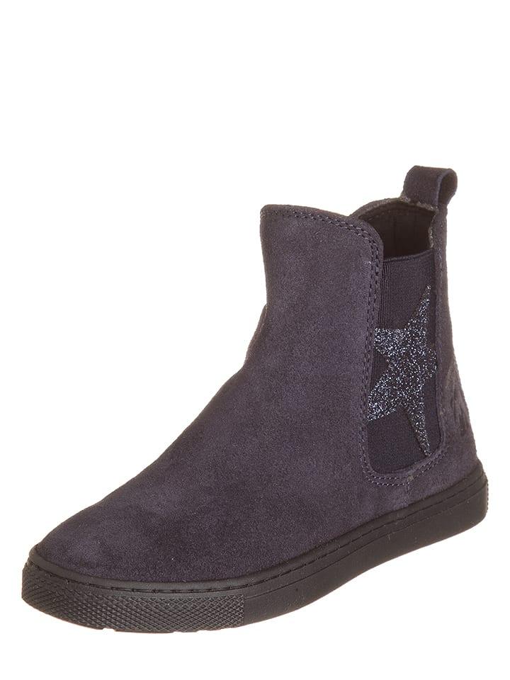 EB Shoes Skórzane botki w kolorze granatowym