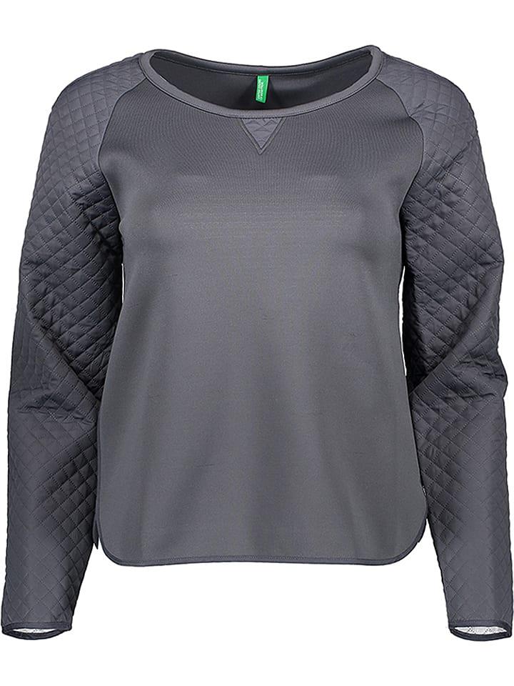 Benetton Sweter w kolorze szarym