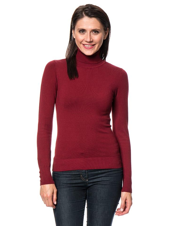 C& Jo Sweter w kolorze bordowym