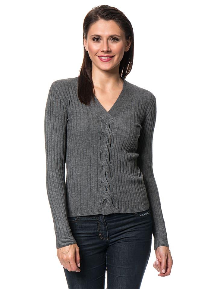 ASSUILI Sweter w kolorze antracytowym