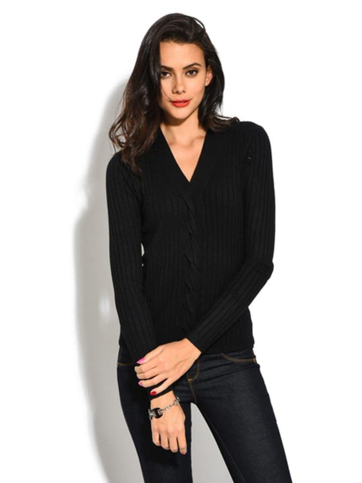 ASSUILI Sweter w kolorze czarnym