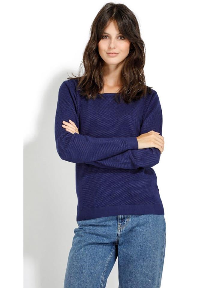 ASSUILI Sweter w kolorze granatowym