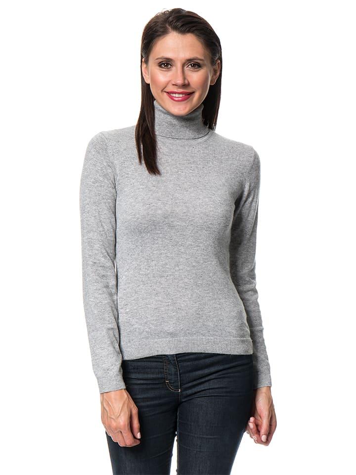 ASSUILI Sweter w kolorze szarym