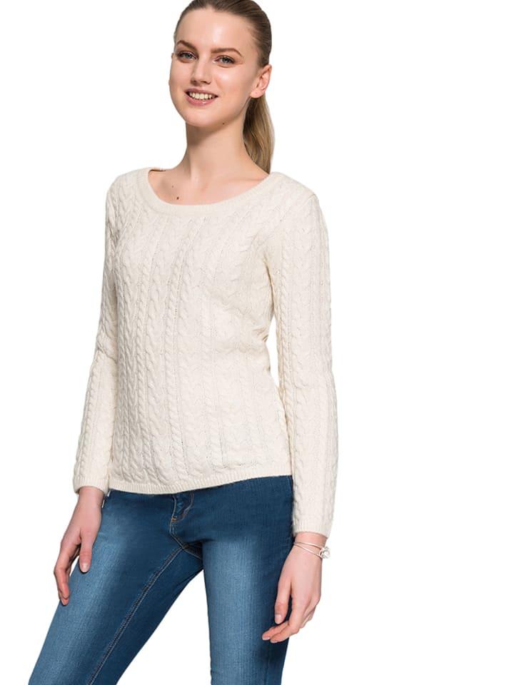 TATUUM Sweter  w kolorze beżowym