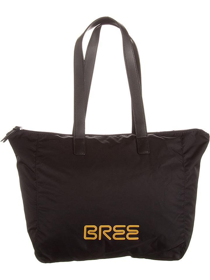 """Bree Shopper bag """"Barcelona 9"""" w kolorze czarno-żółtym - 40 x 33 x 26 cm"""