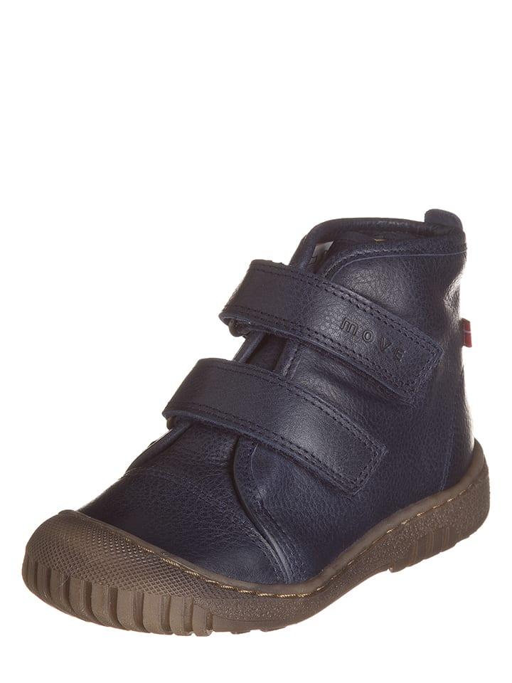 Move Skórzane sneakersy w kolorze granatowym