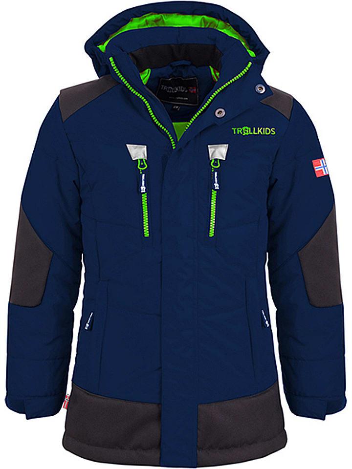 "Trollkids Winterjas ""Narvik"" donkerblauw/groen"