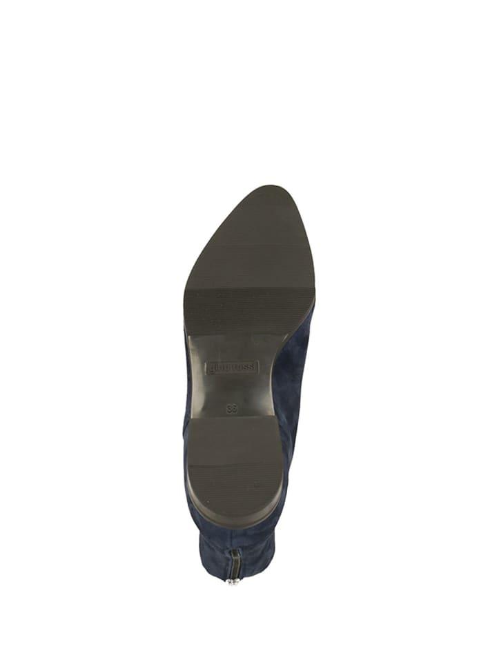 039a3d13d2e01 Skórzane botki w kolorze granatowym - Gino Rossi - Wyprzedaż w Outlet  Limango