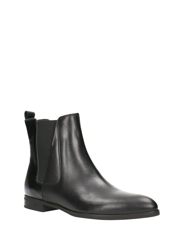 Gino Rossi Leder-Chelsea-Boots in Grauschwarz