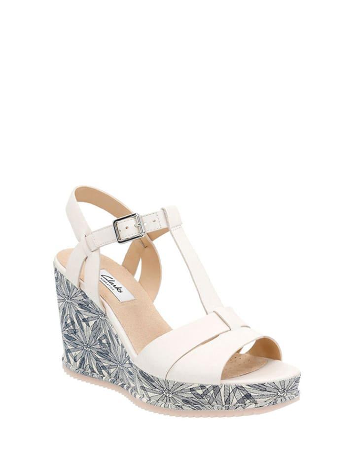 Clarks Skórzane sandały w kolorze białym