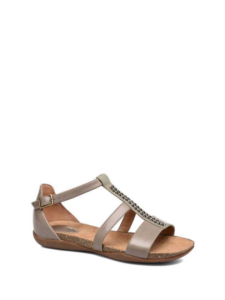 8f413216edc4a Skórzane sandały w kolorze brązowoszarym - Clarks - Wyprzedaż w ...