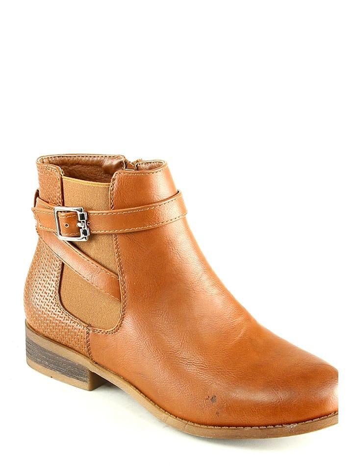 Sixth Sens Chelsea-Boots in Kamel
