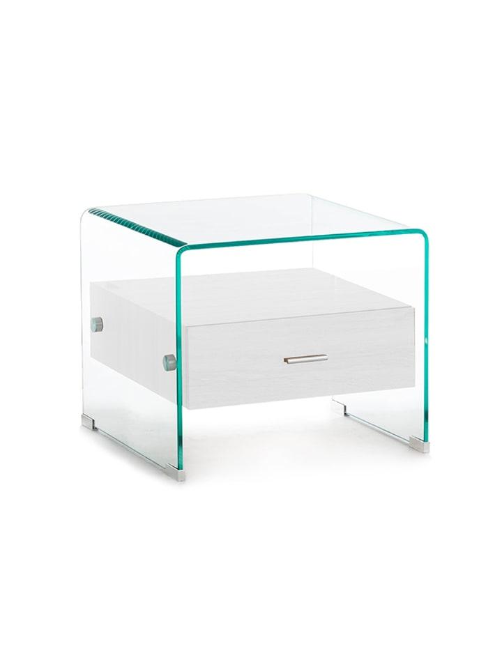 reputable site d9b4e f5147 Stolik w kolorze transparentno-białym - (S)55 x (W)42 x (G ...