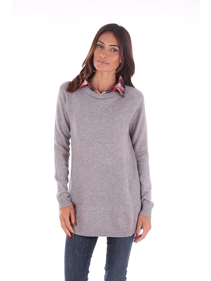 Winter Time Sweter w kolorze szarym