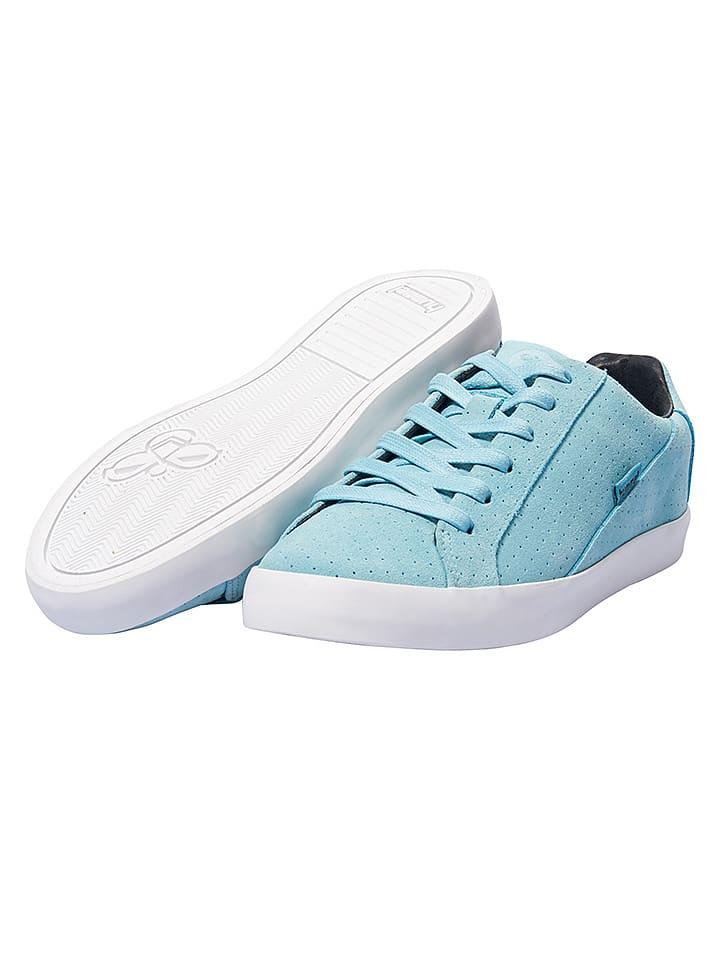 """Hummel Skórzane sneakersy """"Cross Court"""" w kolorze błękitnym"""