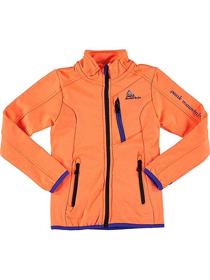 "Peak Mountain Veste softshell ""Eclimate"" - orange"