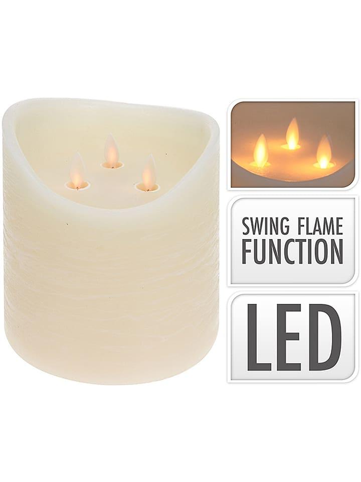 Świeca LED w kolorze białym - wys. 15 cm