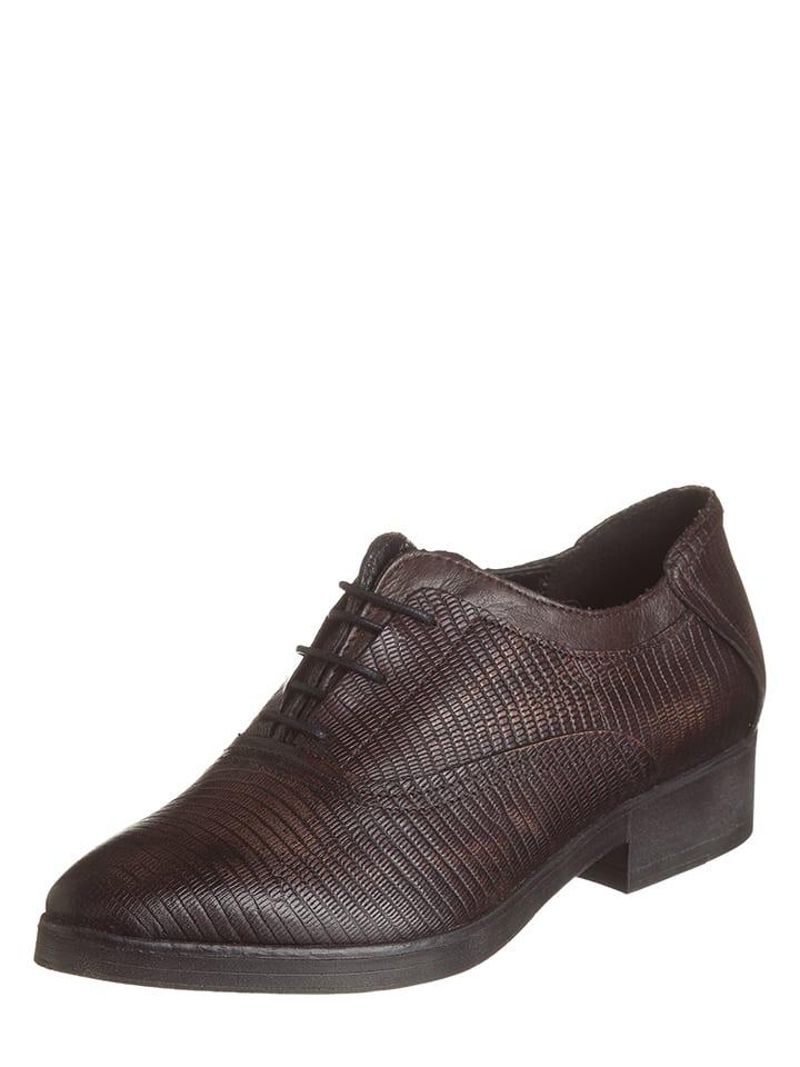 8f1fa4a997c5 CAFèNOIR - Chaussures à lacets en cuir - marron foncé