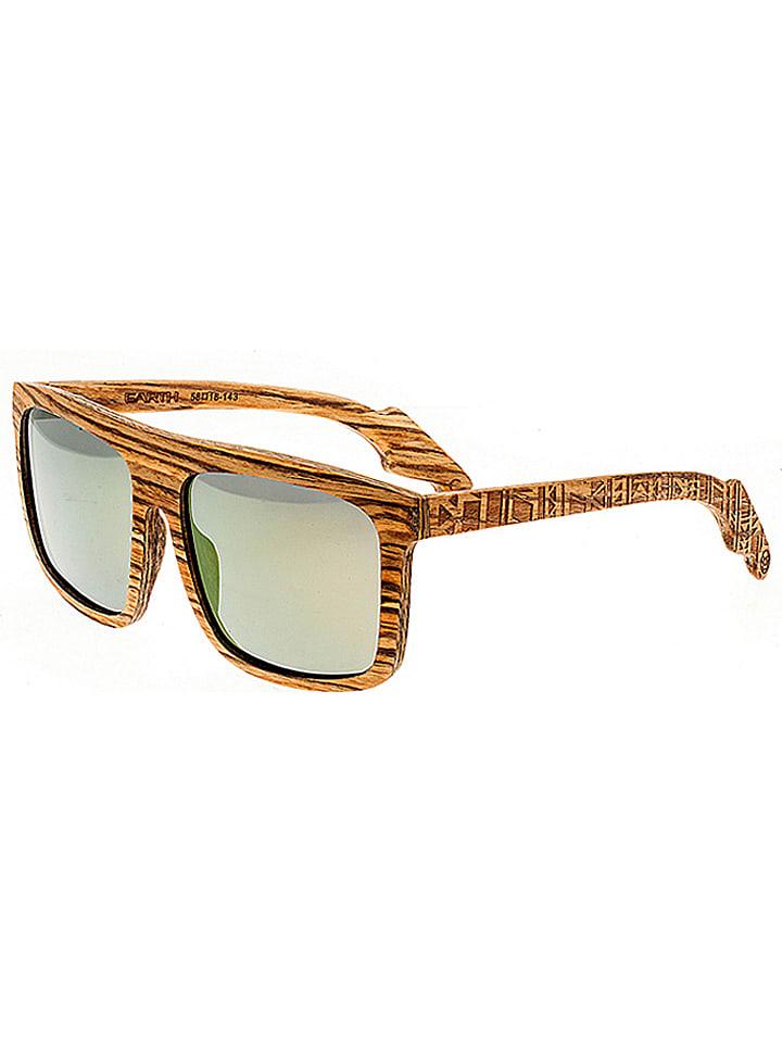 """Earth wood Okulary przeciwsłoneczne """"Aroa"""" w kolorze brązowo-srebrnym"""