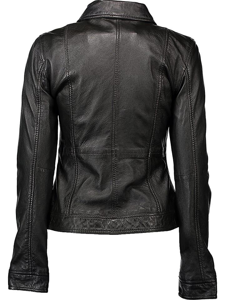 19a672814911d Skórzana kurtka w kolorze czarnym - Caminari - Wyprzedaż w Outlet Limango