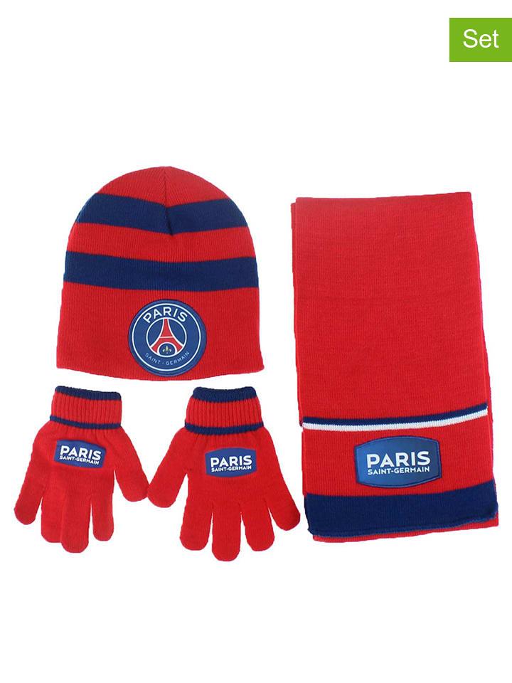 ab50f2bcb94a Paris Saint-Germain - Lot 3 pcs  bonnet, écharpe et gants - rouge ...