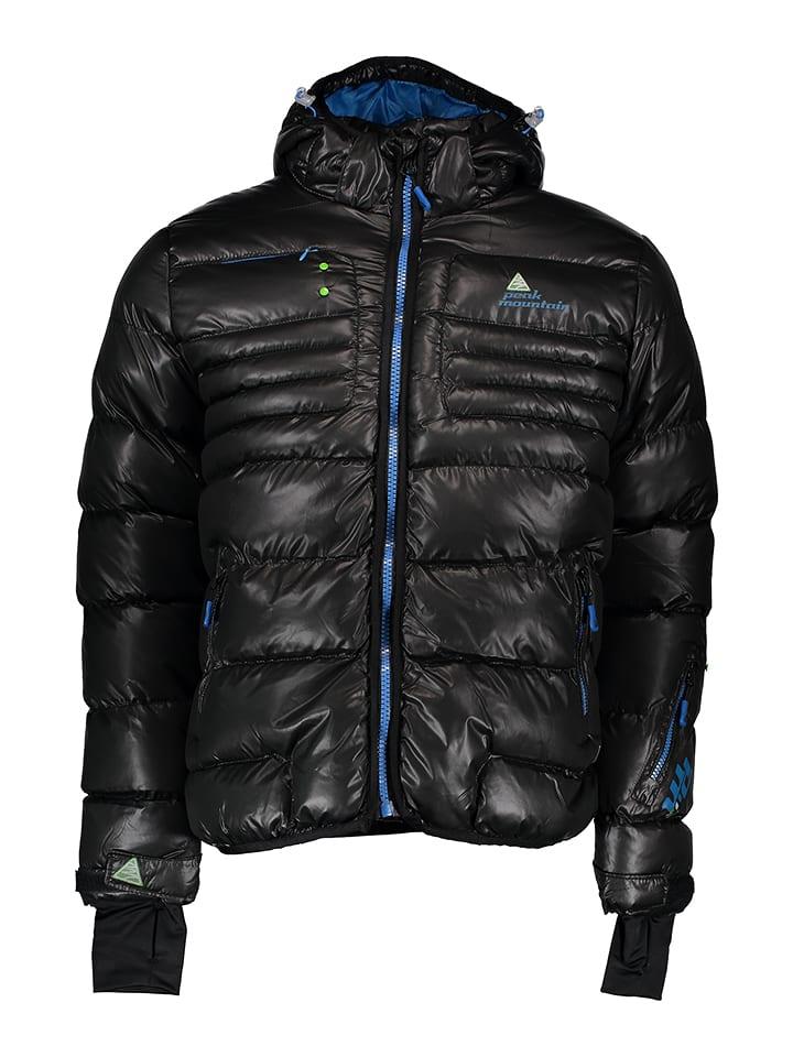 Peak Mountain Kurtka zimowa w kolorze czarnym