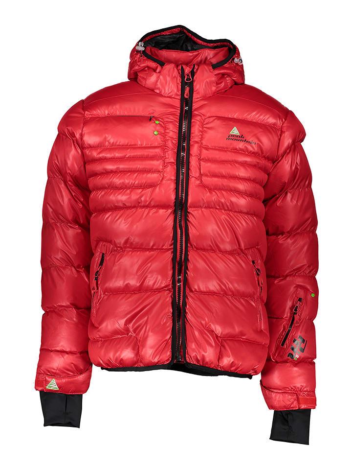 Peak Mountain Kurtka zimowa w kolorze czerwonym
