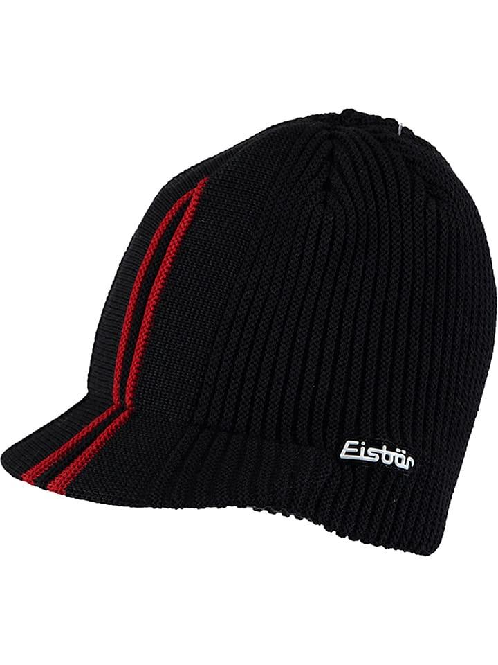 """Eisbär Czapka """"Cap David"""" w kolorze czarnym"""