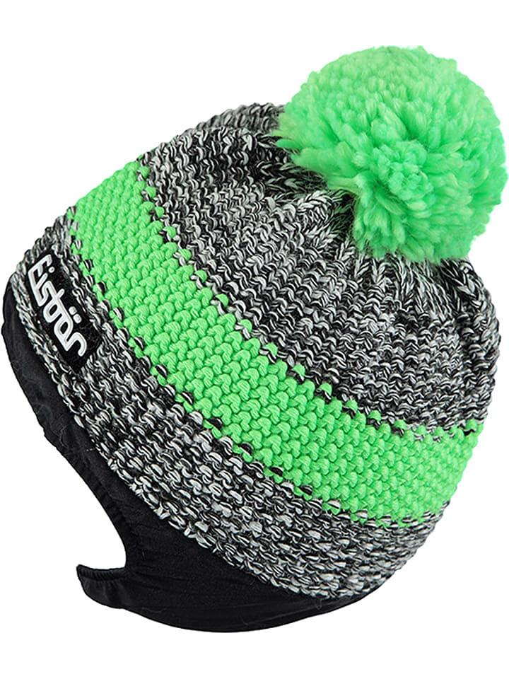 """Eisbär Czapka """"Styler"""" w kolorze zielono-szarym na kask"""