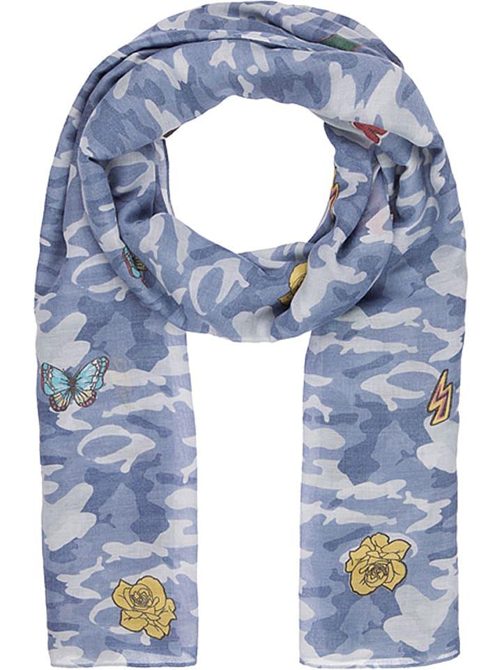 """Codello Szal """"Patches"""" w kolorze niebieskim - 200 x 100 cm"""