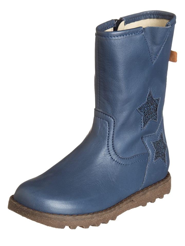 BO-BELL Leder-Stiefel in Blau