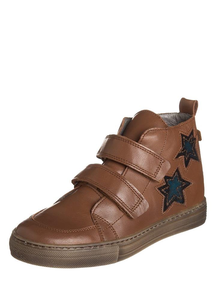BO-BELL Skórzane sneakersy w kolorze brązowym