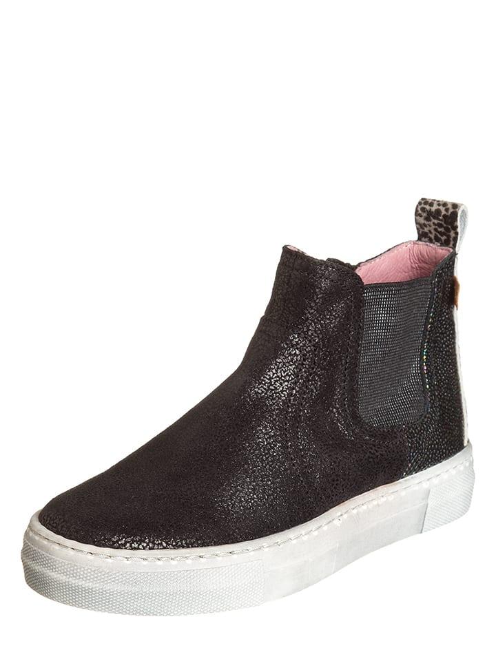 BO-BELL Leder-Chelsea-Boots in Schwarz