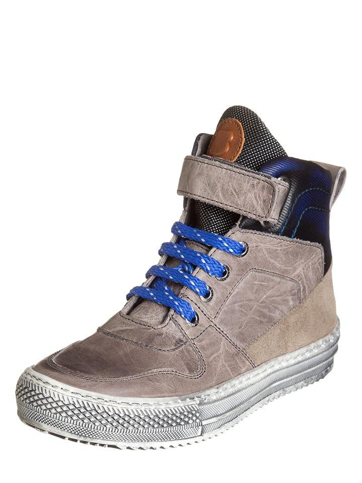BO-BELL Leder-Sneakers in Taupe/ Dunkelblau