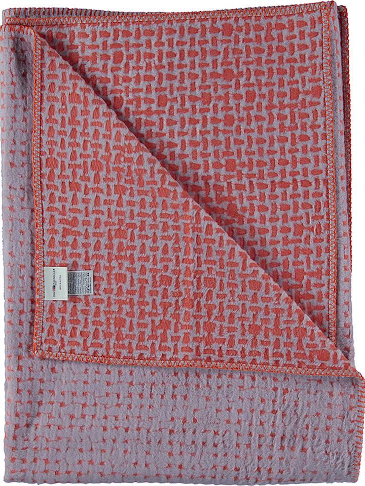 Fussenegger Koc w kolorze szaro-czerwonym