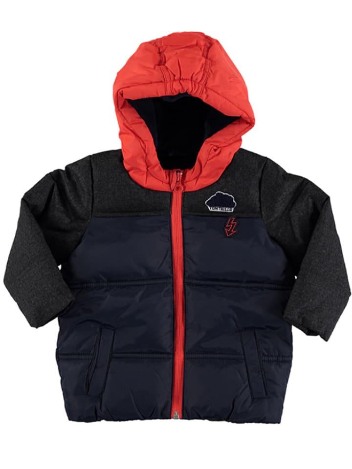 Tom Tailor Winterjas donkerblauw/rood