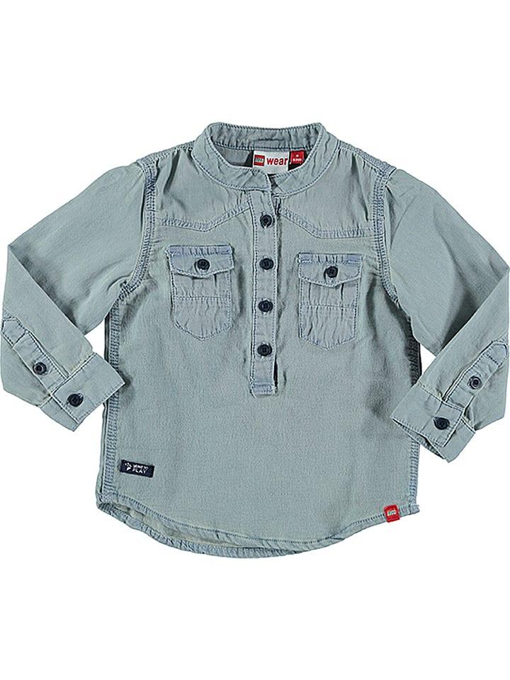 """Legowear Blouse """"Henley 601"""" lichtblauw"""