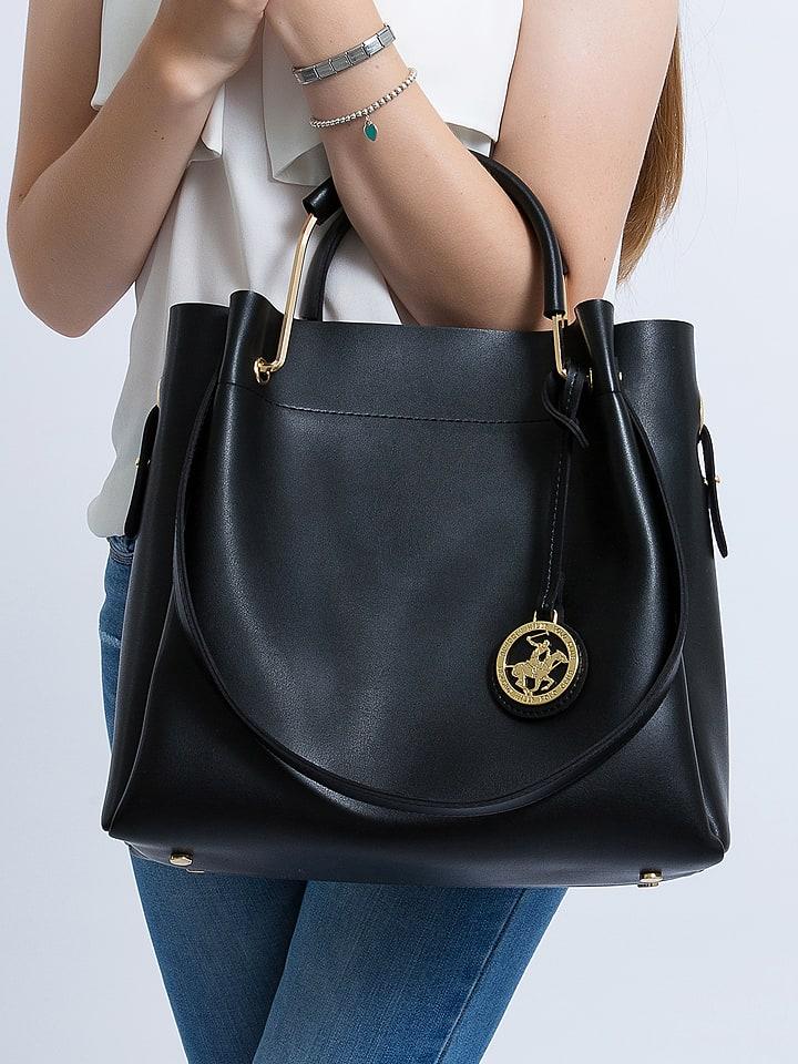 Beverly Hills Polo Club Torebka w kolorze czarnym - (S)33 x (W)34 x (G)16 cm
